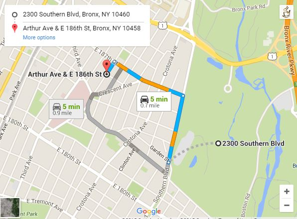 Directions From Zoo To Arthur Avenue