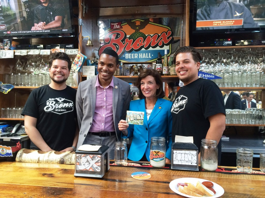 Lieutenant Governor Kathy Hochul visits Bronx Little Italy
