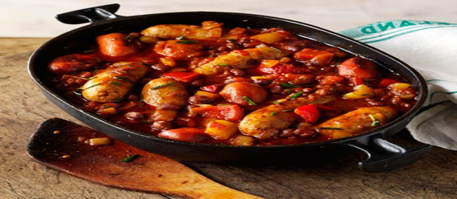 Italian Sausage and Bean Casserole from Vincent's Meat Market