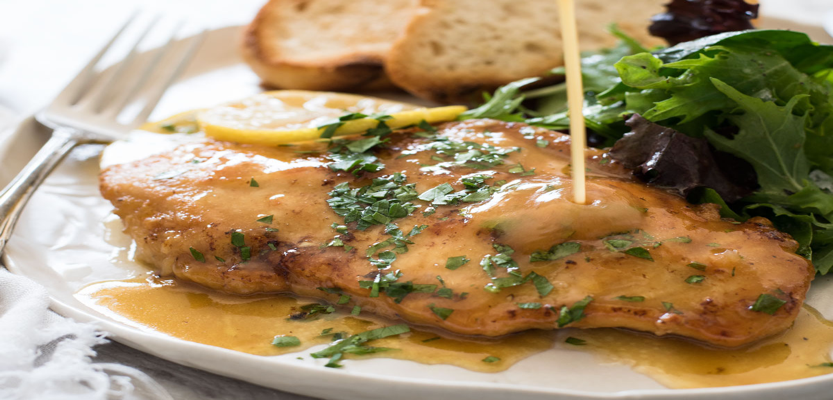 Chicken with Lemon Sauce