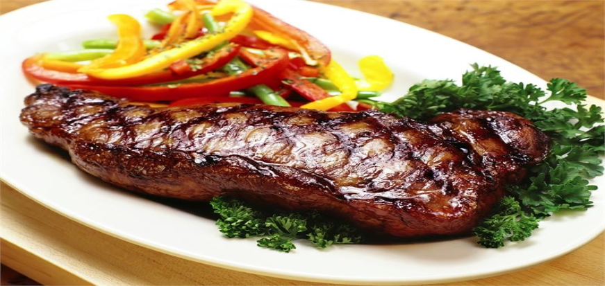 Shell Steak with Cherry Peppers and Beer Sauce