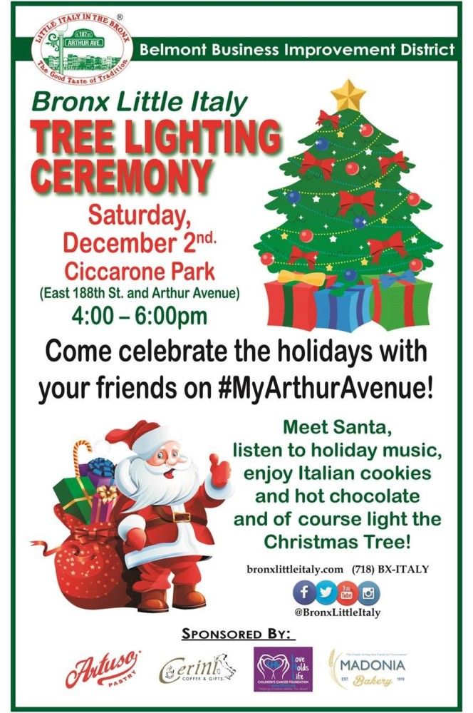 Join us for our annual Christmas Tree Lighting Ceremony on Saturday, December 2nd from 4-6pm at Ciccarone Park! Celebrate the holidays with us and listen to ...